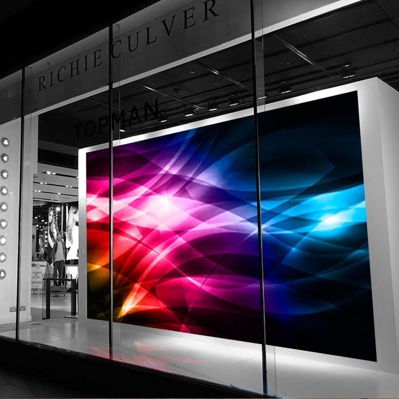 Светодиодный видеоэкран в витрину магазина
