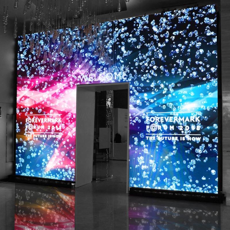 Светодиодный экран портал на входе